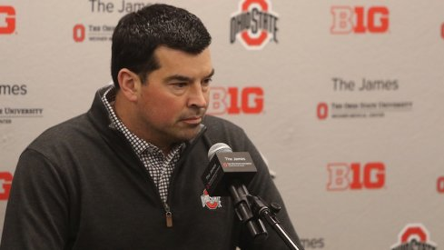 Ryan Day is at the podium.