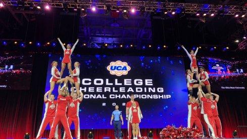 OSU Cheer Team at the UCA National Championship