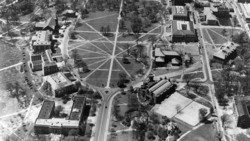 Aerial view of the Oval, 1930.