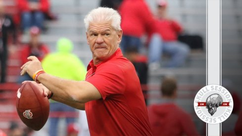 Kerry Coombs could also be the quarterbacks coach in today's skull session.