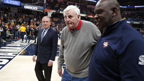 Bob Knight was honored by the Indiana Pacers on Saturday.
