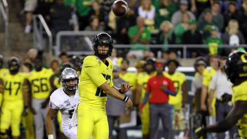 Oregon quarterback Tyler Shough