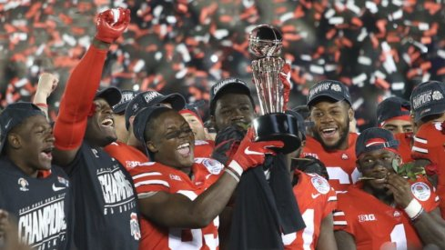 Ohio State after winning the Rose Bowl