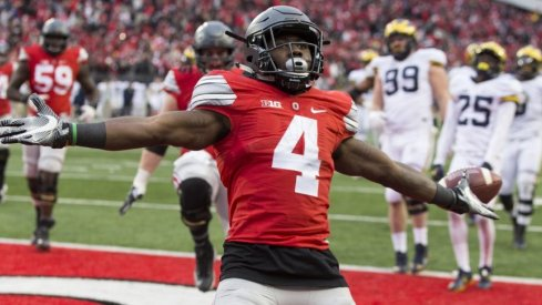 Curtis Samuel scores the game winner during the second overtime of Ohio State's 30-27 win over Michigan in 2016.