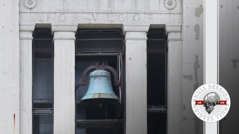 The victory bell hangs in today's skull session.