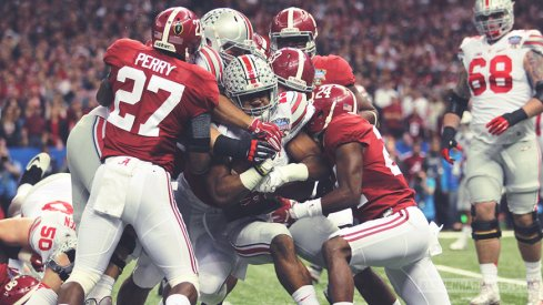 Ezekiel Elliott and the Alabama defense