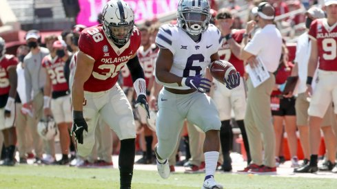 Kansas State freshman running back Keyon Mozee made one of the more unlikely plays of the weekend during the Wildcats' upset win in Norman.