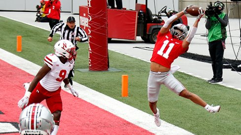 Jaxon Smith-Njigba with the catch of the year in Ohio State's first game