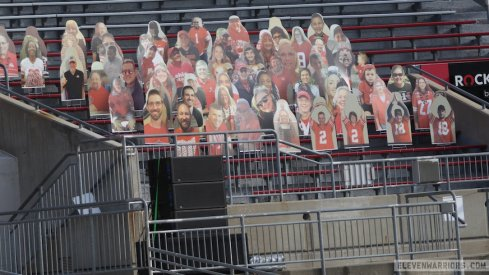 Fan cutouts at Ohio Stadium