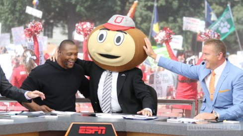 Lee Corso as Brutus on College Gameday