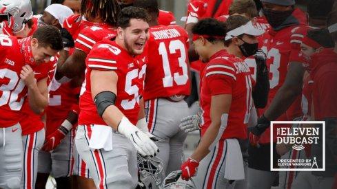 Ohio State Buckeyes celebrate after a win against Nebraska