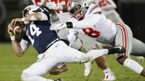 Penn State's Sean Clifford had a long night against the Buckeyes