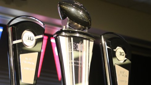 Big Ten championship trophies