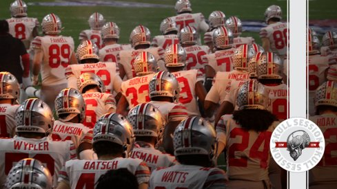 The Buckeyes are taking the field in today's skull session.
