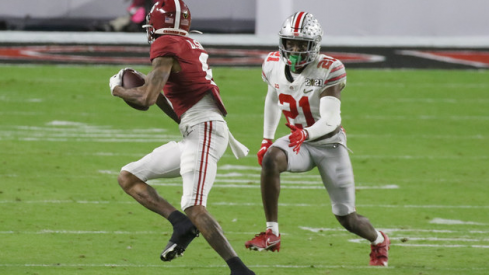 Ohio State's secondary struggled to stop DeVonta Smith and the Alabama passing game.