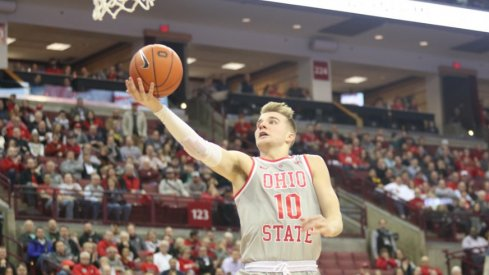 Ohio State men's basketball player Justin Ahrens