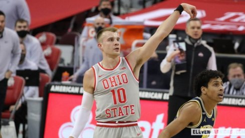 Justin Ahrens has struggled to get a shot off amid Ohio State's three-game losing streak.