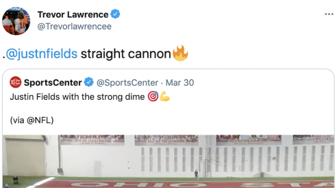Trevor Lawrence shouts out Justin Fields