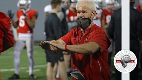 Kerry Coombs wants the ball in today's skull session.