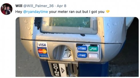 Ryan Day was helped by the Meter Fairy.