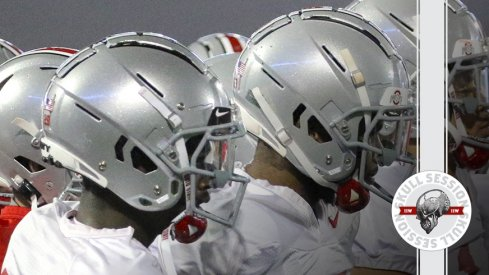 The Buckeyes have helmets in today's skull session.