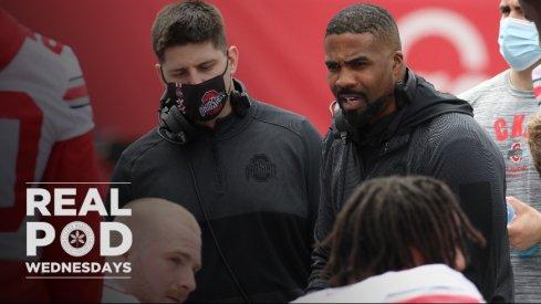 Al Washington talking to the Ohio State linebackers