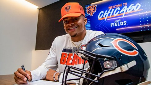 Justin Fields signed with the Chicago Bears this week.