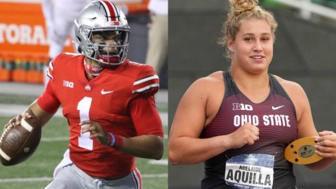 Justin Fields and Adelaide Aquilla