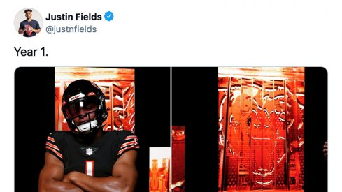 Justin Fields looking clean in his Chicago Bears uniform