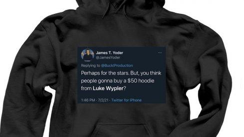 Luke Wypler is selling a shirt.