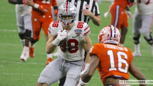 Jeremy Ruckert torched Clemson for two touchdowns in last year's College Football Playoff semifinal contest.