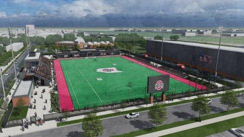 Rendering of Ohio State's new lacrosse stadium