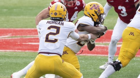 Tanner Morgan and Mohamed Ibrahim benefit from a massive offensive line in Minnesota