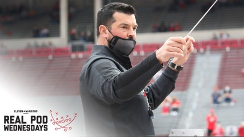Ryan Day at 2019 fall practice