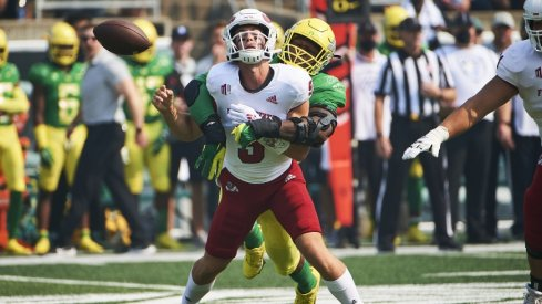 Kayvon Thibodeaux strip sacks Fresno State quarterback Jake Haener