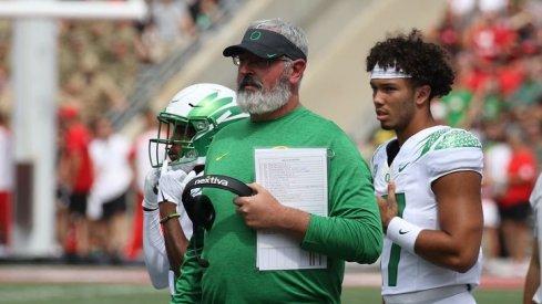 Oregon offensive coordinator Joe Moorhead put on a clinic on Saturday at Ohio Stadium