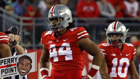 Ohio State's defense with J.T. Tuimoloau