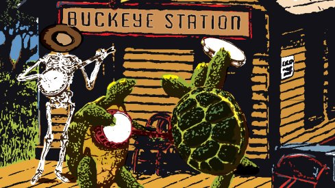 Brutus gratefully welcomes the Terrapins to Columbus in this week's game poster.