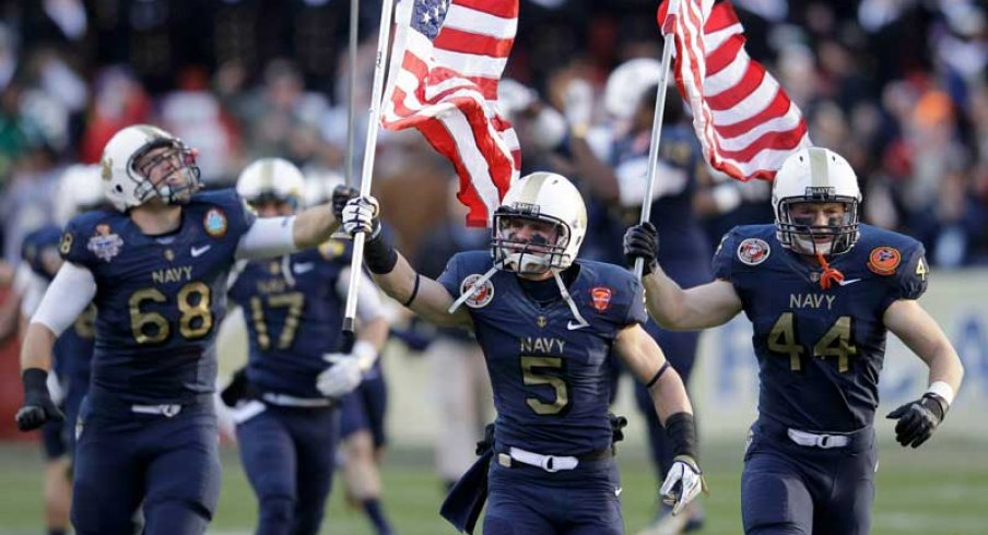 The Buckeyes will open the 2014 season against Navy in the home of the Ravens.