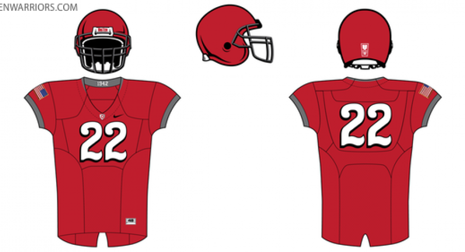 The Pro Combat uniforms Ohio State football will wear in 2010.