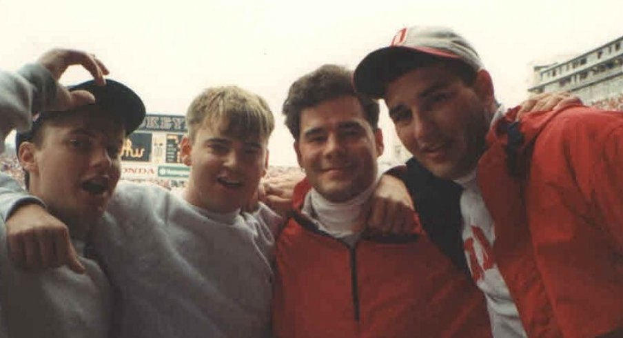 Kris Hughes (3rd from right) graduated from Ohio State in 1995