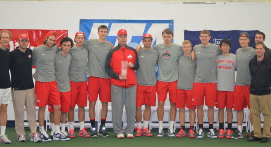 The men's tennis team is championship material.