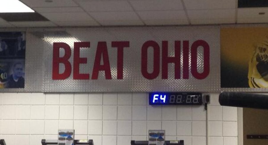Michigan Pretties Up Their Weight Room With A Quot Beat Ohio