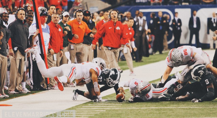 new york df704 7d200 Film Study  Fourth Down   Short for the Big Ten Title   Eleven Warriors