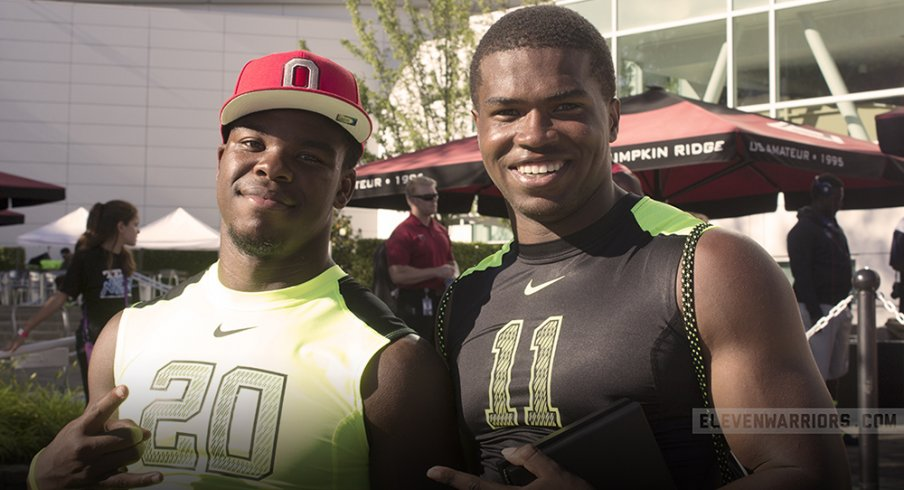 Damien Harris and Justin Hilliard at The Opening