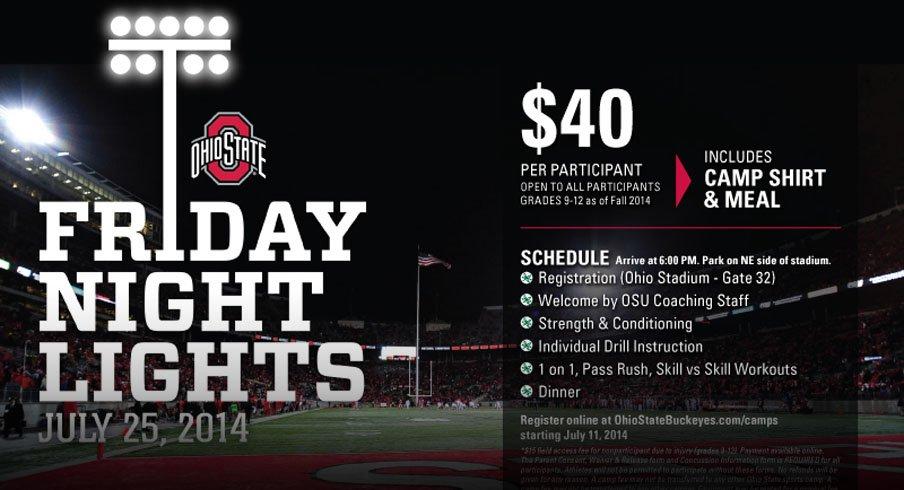 Friday Night Lights is this Friday at Ohio Stadium.