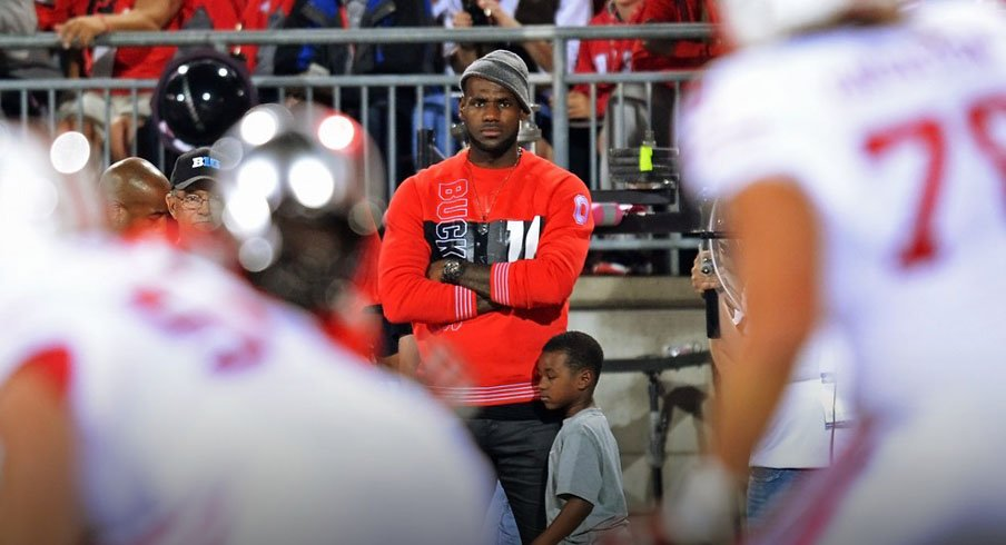 LeBron James takes in the Ohio State–Wisconsin game. OSU Football 6a9720109