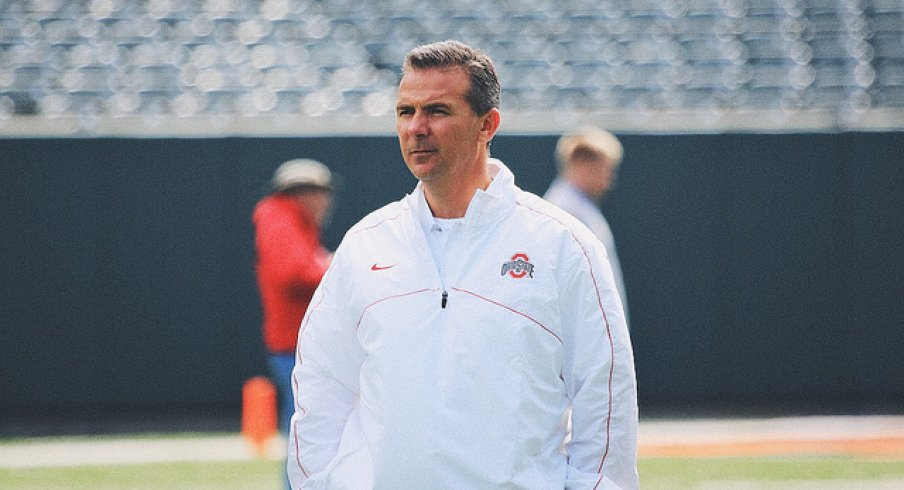 Urban Meyer at the 2013 Spring Game