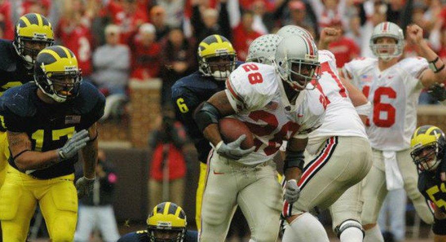 Jonathan Wells, like many Ohio State greats, got loose against Michigan.