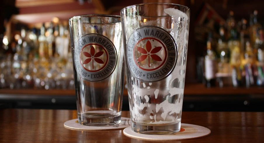 Eleven Warriors pint glasses for the winner.